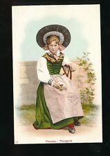 Switzerland Thurgau Thurgovie traditional dress fashion costume c1900/10s? PPC