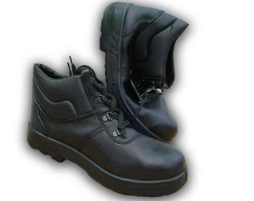 ONLY £15 Walklander Flexible Sole Safety Boots FREE P/&P Black- Sizes 8 /& 10