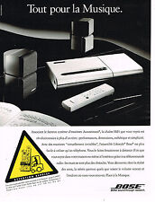 PUBLICITE ADVERTISING 015  1994  BOSE   enceintes ACOUSTIMASS chaine hi-fi