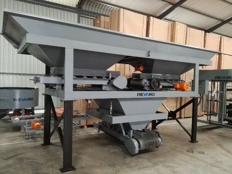 New Revaro RB800-2 Two Bin Hopper Aggregate Batching Plant Y-Design