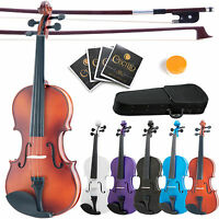 "Mendini Acoustic Viola Size 16"" 15"" 14"" 13"" 12"" ~Wood Black Blue Purple White"