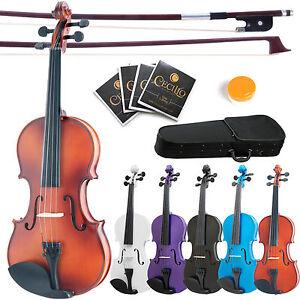 Mendini-Acoustic-Viola-Size-16-034-15-034-14-034-13-034-12-034-Wood-Black-Blue-Purple-White