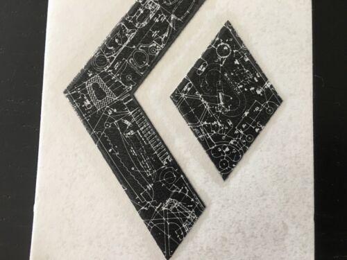 "Sticker Decal Vinyl 4"" Black Diamond Climbing stickers Black logo"