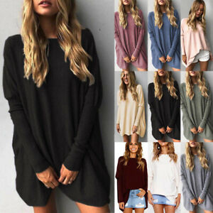 Womens-Long-Sleeve-Sweater-Blouse-Ladies-Oversized-Jumper-Pullover-Tops-JC3C