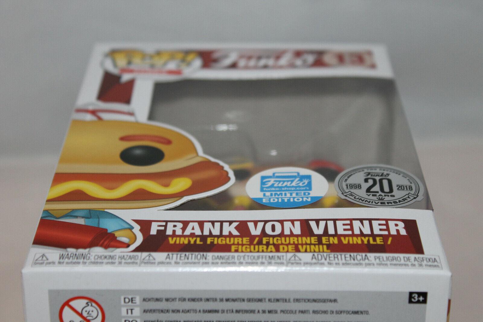 Funko Pop  Vinyl Figure - Funko Frank - Von Viener - Frank Funko Shop Exclusive 0ce7e8