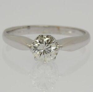 Brilliant-Ring-in-aus-14kt-Weiss-Gold-mit-Brillanten-Diamant-Brillantring-Solitaer