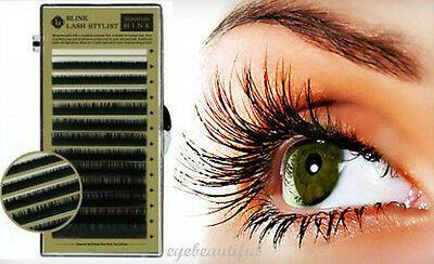Eyelash Extension Blink Mink J Curl 7mm-14mm Mixed Size Tray