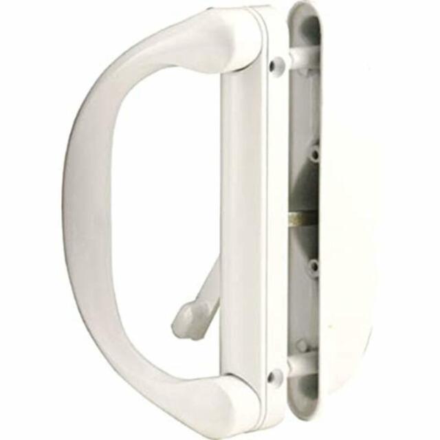 Sliding Door Handle >> Crl White Sliding Door Handle Set For Milgard