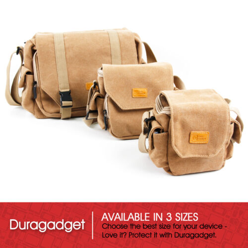 DMC-FT30 GF8 Tan Brown Medium Canvas Bag for Panasonic Lumix DMC-GF7 LX100