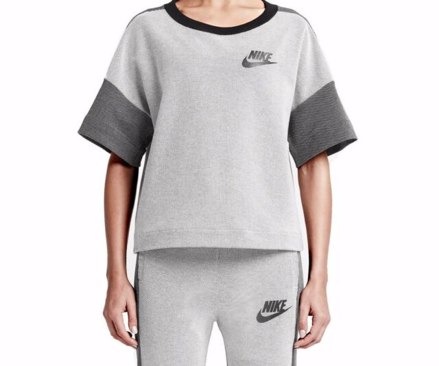 c4126048 Nike Women Rally Plus Crew White Black Shirt/Top Size Medium Style  728225-100