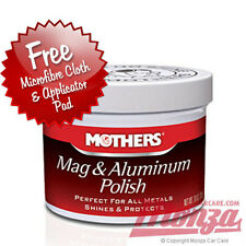 Mothers Car / Motorbike Metal Polish / Wax 5oz Complete Kit **FOR MOST METALS**