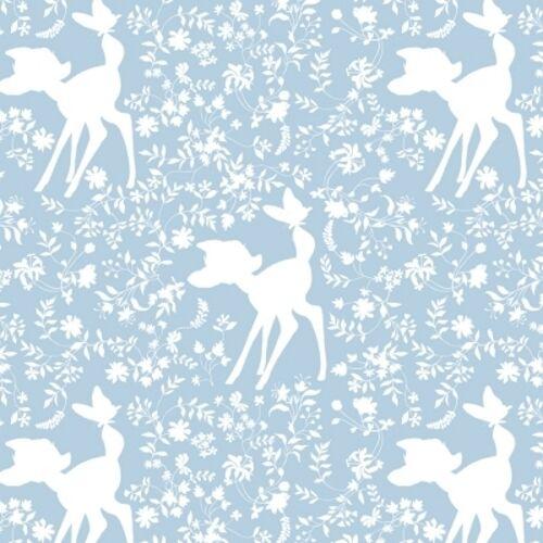 Camelot Disney Bambi 85040105 1 Blue Bambi Silhouette BTY Cotton Fab