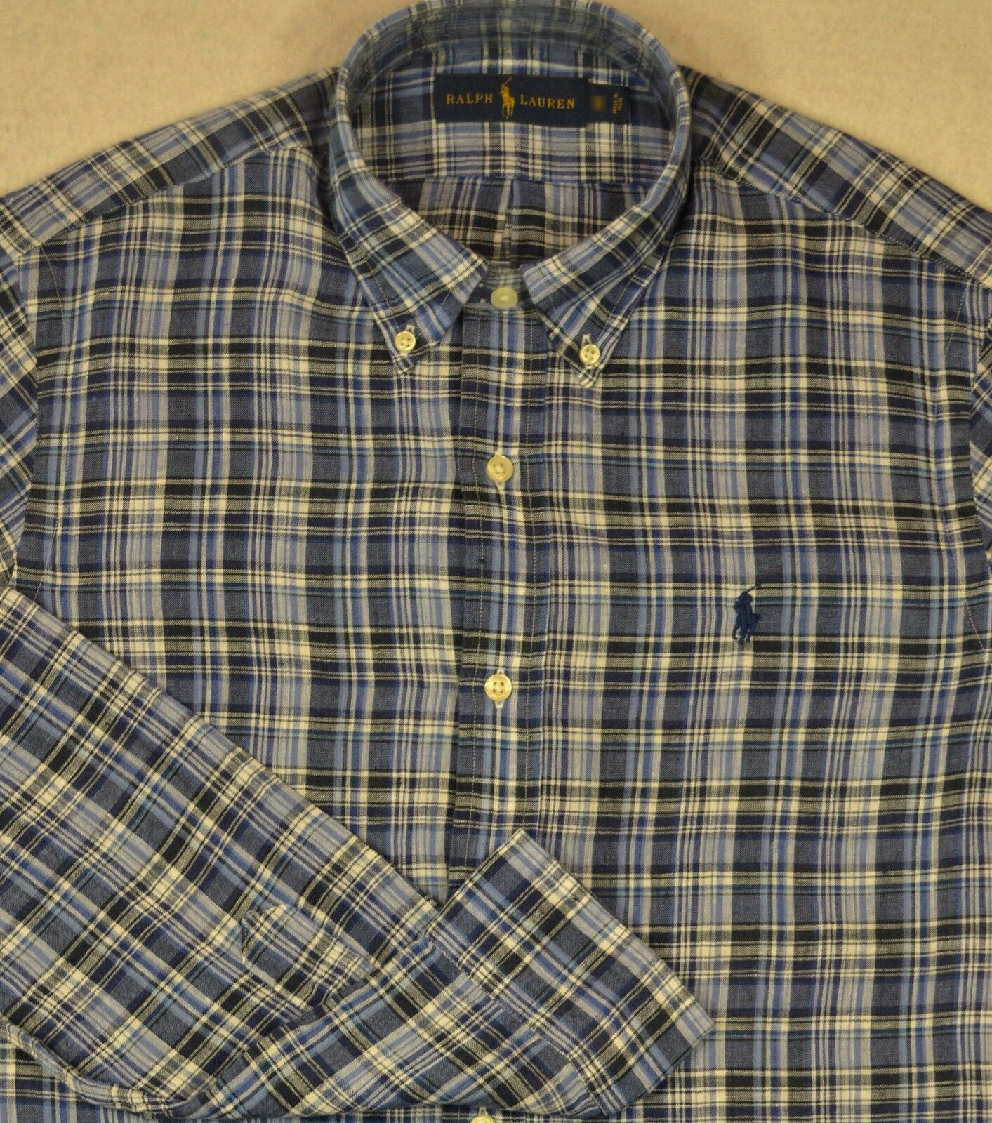 Polo Ralph Lauren Linen Shirt Long Sleeves Button-Front Size S SMALL NWT