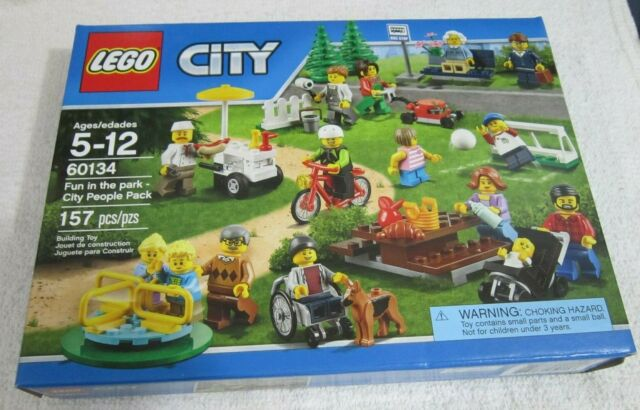 LEGO 60134 City Town ~ Fun in the park ~ City People Pack ~15 Minifigures,157 ps