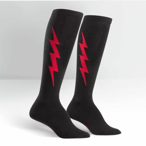 Sock It To Me Women/'s Knee High Socks Black /& Red Super Hero