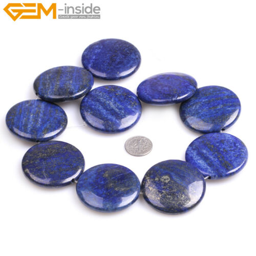 """Dyed Genuine Coin Lapis Lazuli Stone Beads For Jewelry Making 15/"""" Jewelry Beads"""