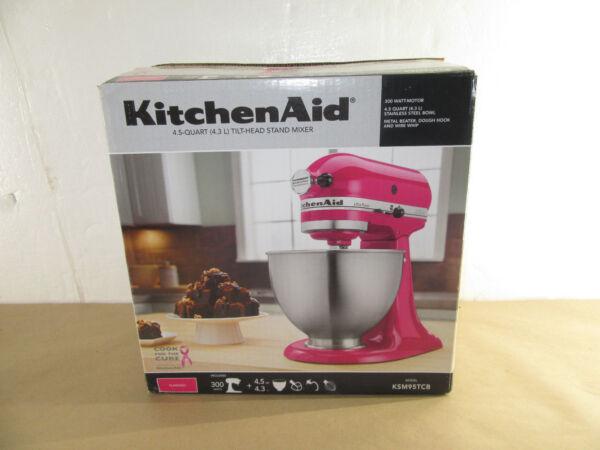 Kitchenaid 4 5 Qt Tilt Head Stand Mixer Flamingo 300 Watt Ksm95tcb