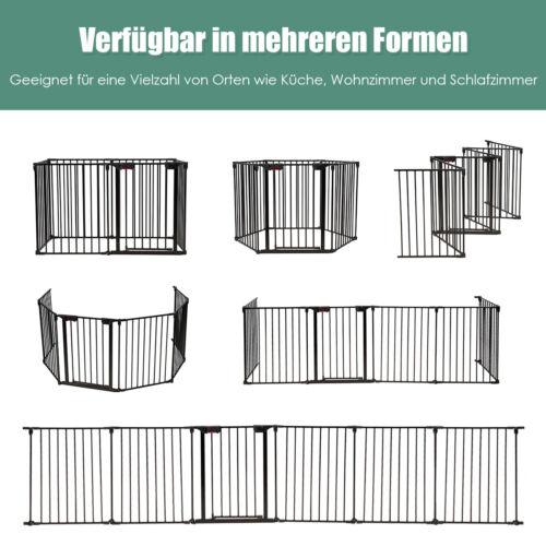 Laufgitter Kaminschutzgitter Laufstall Schutzgitter mit Sicherheitstür Faltbar