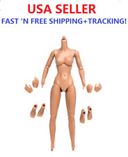 "KUMIK BODY 1/6 SCALE 12"" female NUDE figure Head Play Rubber Skin Layer"