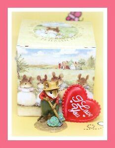 Wee-Forest-Folk-Ho-Joe-M-238-1998-Red-Shirt-Green-Cabbage-Gardener-Mouse
