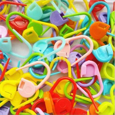 50 Pcs//set Needle Clip Plastic  Knitting Crochet Locking Stitch Sewing Tool CA