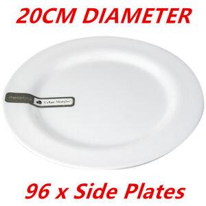 Image is loading 96-x-20cm-White-Round-Melamine-Plates-Starters-  sc 1 st  eBay & 96 x 20cm White Round Melamine Plates Starters Salad Dessert White ...