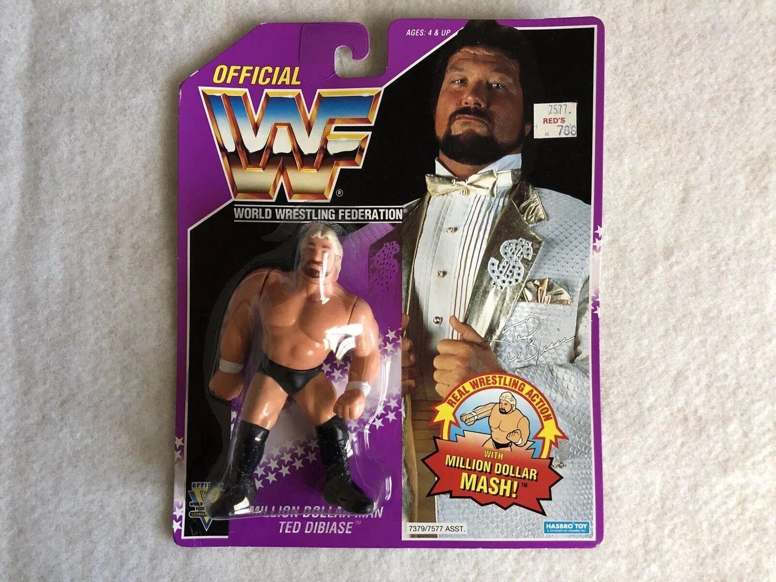 WWF / WWE Hasbro Million Dollar Man Ted DiBiase Figure SEALED RARE - Look
