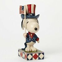 Peanuts By Jim Shore Patriotic Snoopy, New, Free Shipping