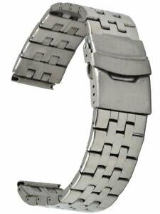 Edelstahl-Uhrenarmband-5-reihig-glanzpoliert-gerader-Stegansatz-18-mm-Laenge-18
