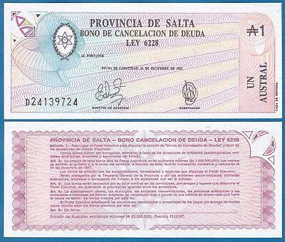 UNC Argentina Salta P S2612-1 Austral 1987