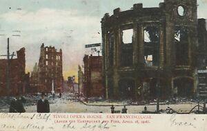 TIVOLI-OPERA-HOUSE-SAN-FRANCISCO-CA-Postcard-Destroyed-Earthquake-Fire