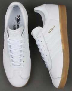 Dettagli su Adidas Originals Gazelle (Pelle) Bianco & GUM. Scatola. mostra il titolo originale