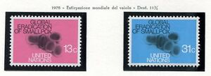19143-UNITED-NATIONS-New-York-1978-MNH-Smallpox-Vaiolo-2v