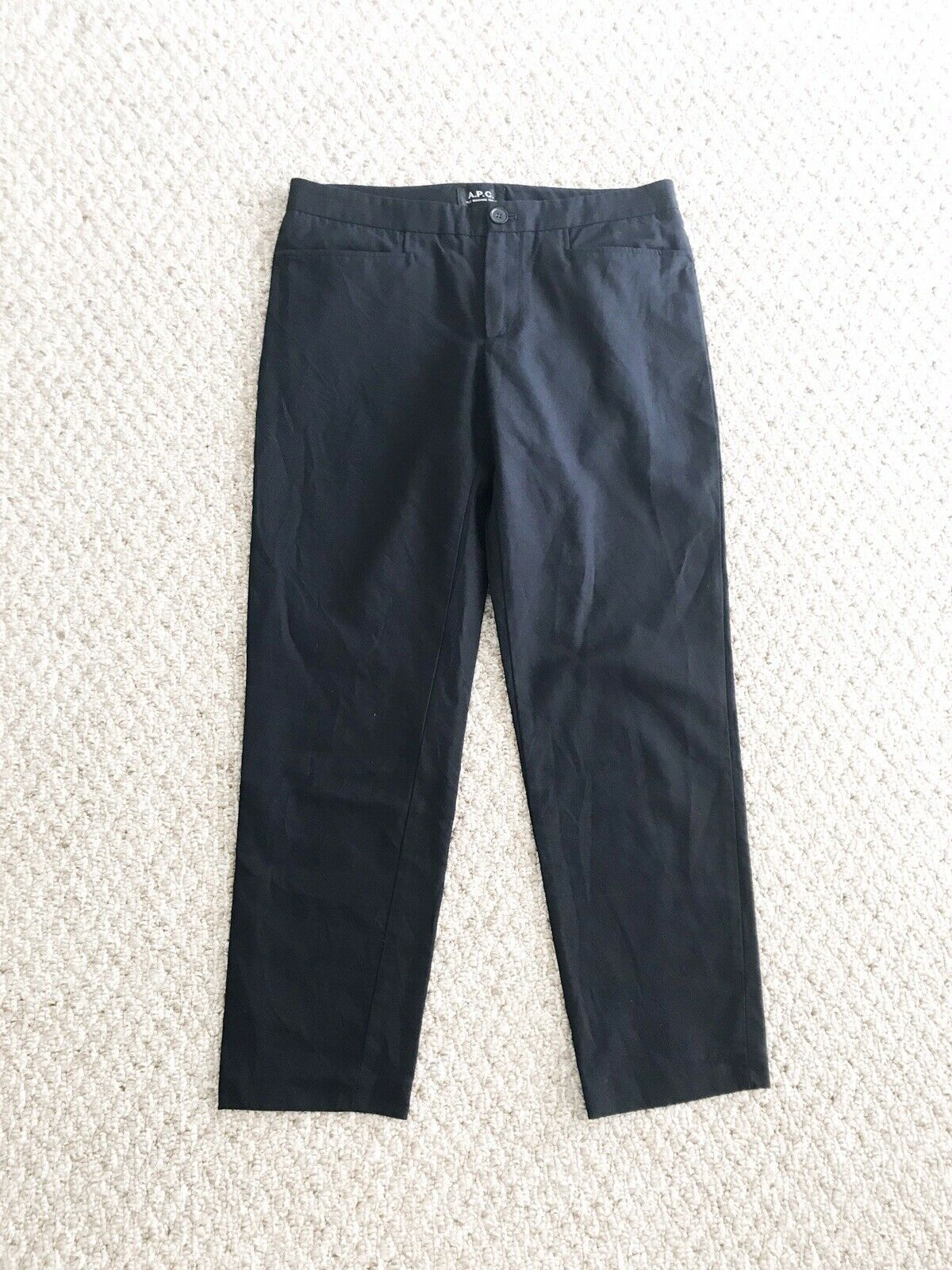 APC Trousers Pants Navy Blau damen Cotton Linen Sz 36