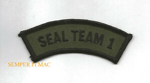 SEAL-TEAM-ONE-1-TAB-HAT-PATCH-SPECIAL-OPERATIONS-SCUBA-US-NAVY-Base-Little-Creek
