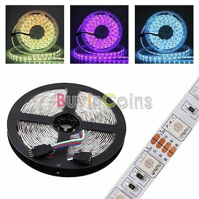 Bright 5M 500CM 5050 SMD RGB 300 LED Flexible Tape Roll Strip Light DIY 12V BAAU