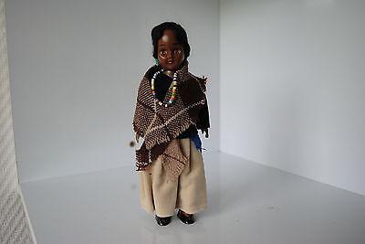(n°6) Ancienne Poupee Folklorique Doll Indienne Amerique