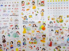 6 pages Korean girl & forest animal stickers! Kawaii deer, penguins, owl, zakka