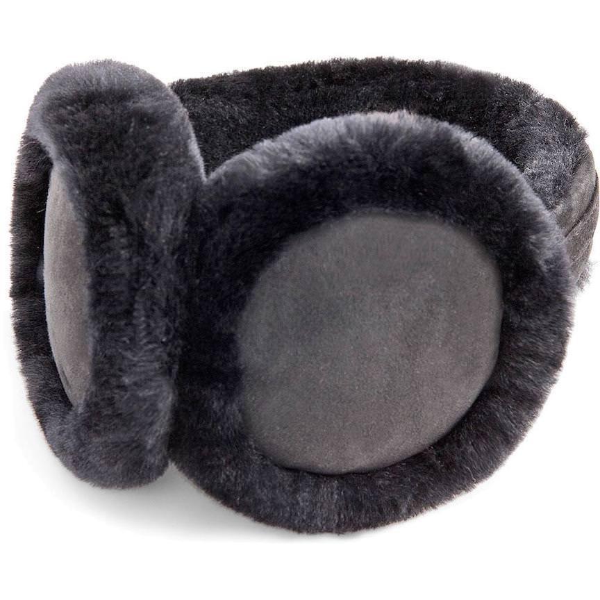 UGG Cache-oreilles en peau de mouton noire en peau de mouton noire NOUVEAU