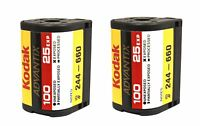 2 Rolls Kodak Advantix Film Aps 100 25 Exp C-41 100 Iso Ix Bulk 100% Guarantee