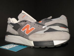c7f2d6f62a7d9 2014 NEW BALANCE M998GGO M998 998 COOL GREY BURNT ORANGE WHITE MADE ...