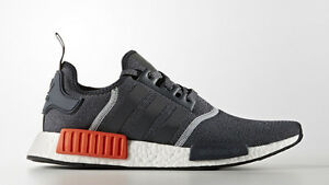 6ced8d4fb960 Adidas NMD R1 Wool Grey Orange Red 3M Size 10. S31510 Yeezy Ultra ...