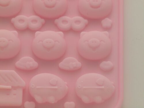 Pig Theme Silicone Chocolate//Candy Mold