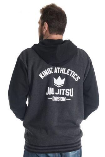 Kingz Varsity Hoodie Black BJJ No Gi MMA Grappling Casual Muay Thai Boxing