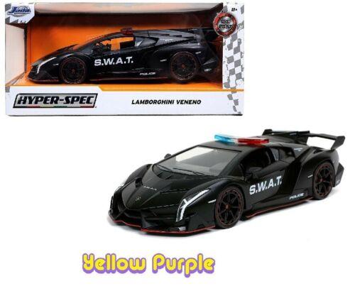 Jada 1:24 Hyper-Spec Series S.W.A.T Lamborghini Veneno Diecast Black 32261