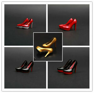 """1//6 Scale High Heeled Shoes For 12/"""" Figure Body Accessories Parts"""