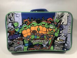 RARE Version VINTAGE 1991 TMNT Teenage Mutant Ninja Turtles Suitcase Luggage Bag