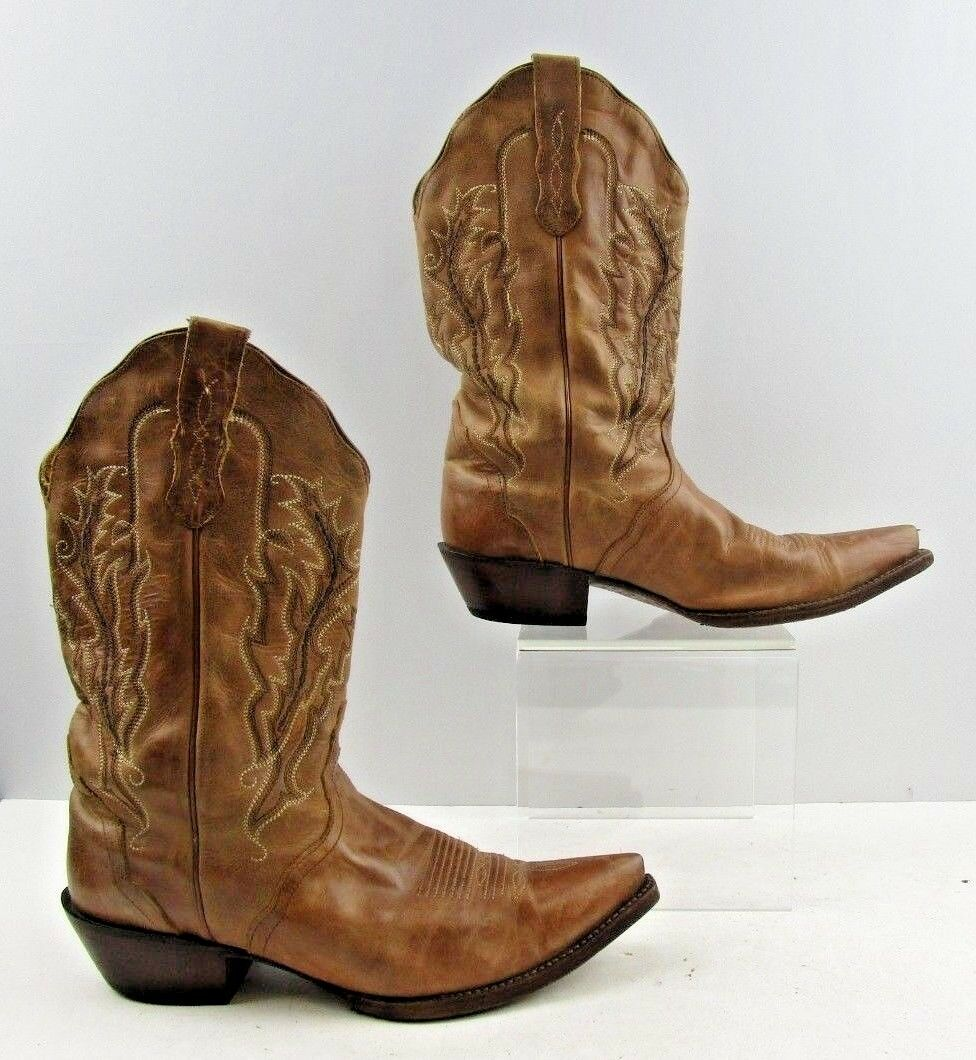 qualità autentica Ladies Nocona Marrone Leather Pointed Pointed Pointed Toe Cowboy Western stivali Dimensione  9.5 B  offerta speciale