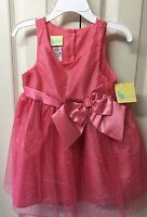 Girls Holiday Dress Toddler 2t Coral Sparkling Sleeveless Town Pageant