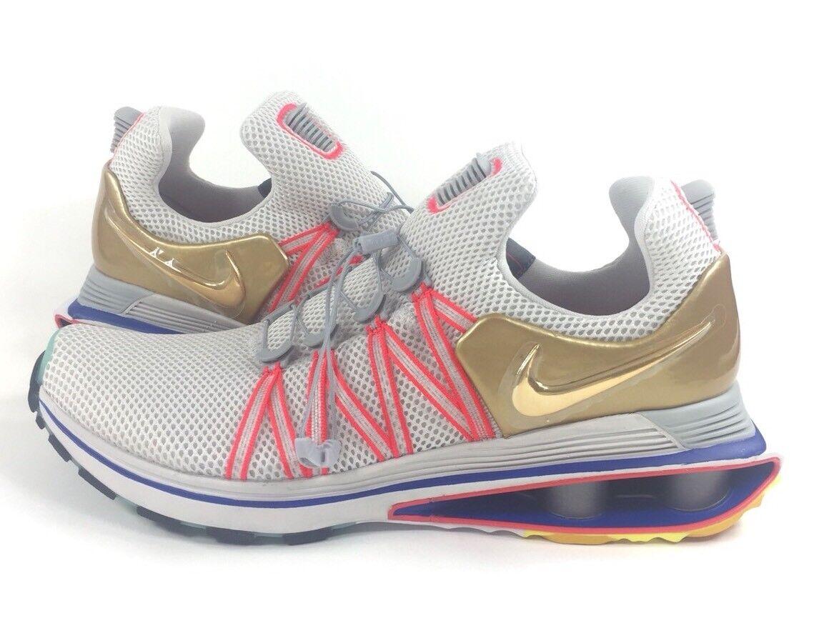 de nouvelles chaussures nike shox gravité   12 olympique de aq8553-009 vastes Gris  de olympique l'or métallique d67cda